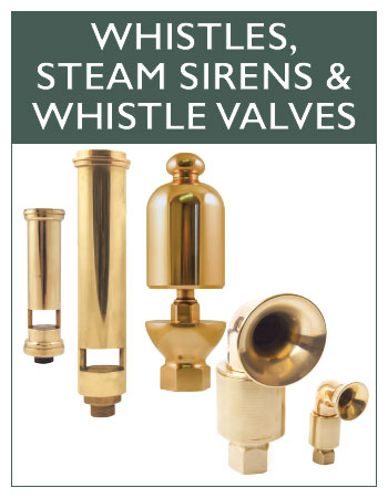 Whistles, Steam Sirens & Whistle Valves