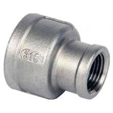 "1 1/2"" x 1 1/4"" BSP S/Steel Reducing Socket 150psi"