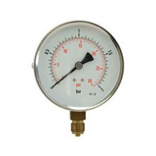 "4"" Dial Pressure Gauge 0-30 PSI/Bar 3/8"" BSP Bottom Connection"