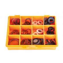 Fibre & Rubber Washer Kit 128 PCE