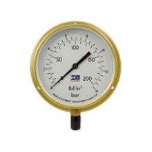 "6"" Dial Pressure Gauge 0-100 PSI/Bar 3/8""BSP Bottom Connection"