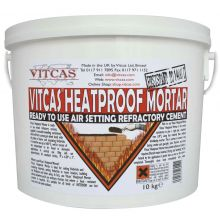 Heatproof Mortar 10KG Bucket