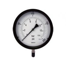 "8"" Dial Pressure Gauge 0-200 PSI/Bar 3/8"" BSP Bottom Connection"
