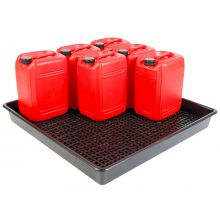 9 x 25L Drum Tray With Removeable Base Grid