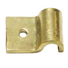 "3/8"" Pipe Fastening Bracket - Single - Large - Brass"