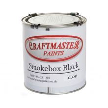Craftmaster Gloss Black Smokebox Paint - 250ml