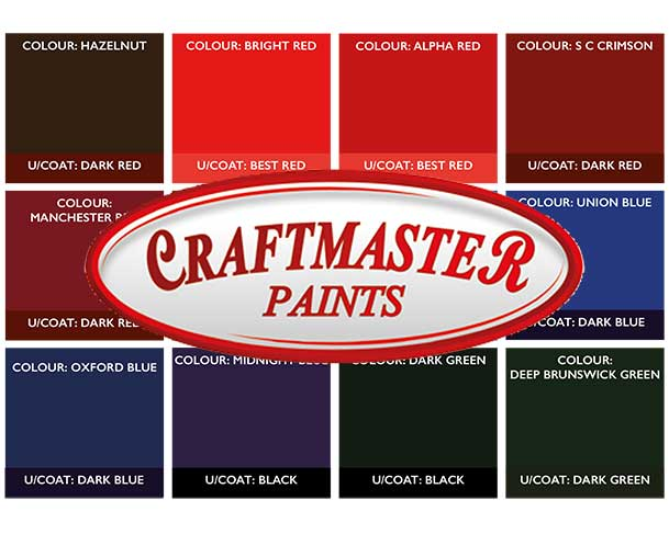 Craftmaster Paints Standard Colours
